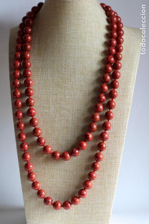 950872c5a076 collar largo de coral para dos vueltas - Buy Antique Necklaces at ...