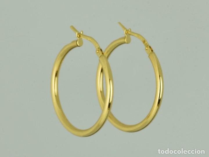 d331013f3dc6 pendientes aros de oro amarillo de 18k. peso  2 - Comprar Pendientes ...