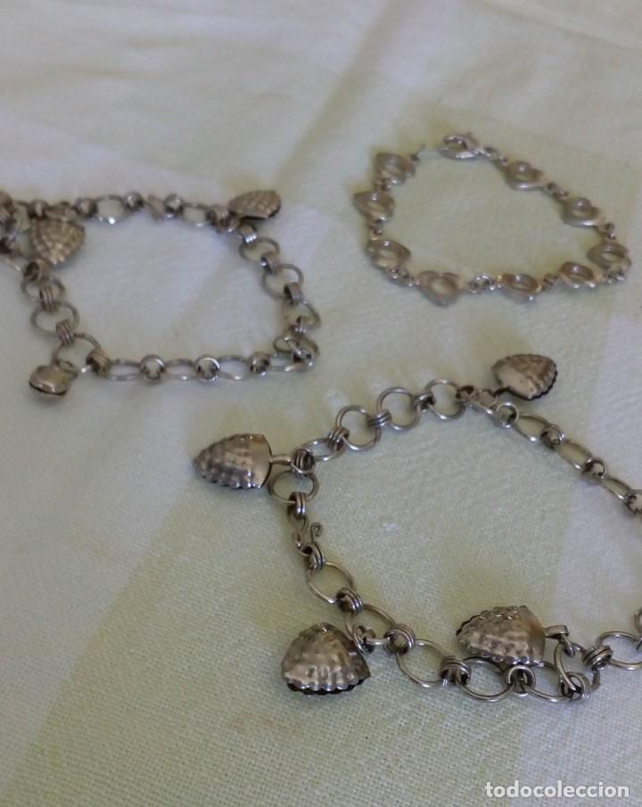 Joyeria: Lote de tres pulseras plateadas - Foto 3 - 138904114