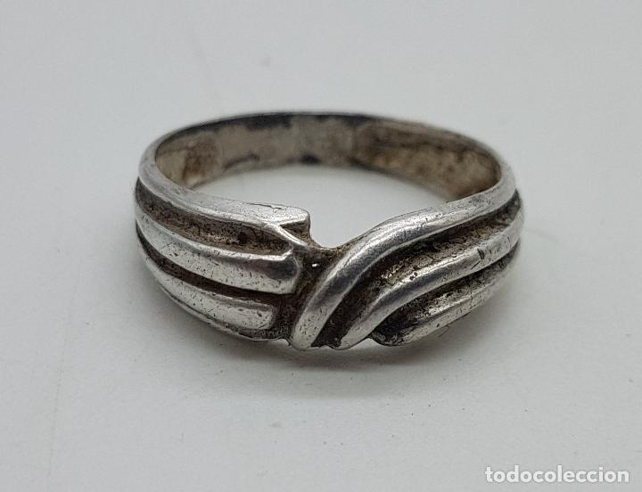 Joyeria: Anillo vintage en plata de ley contrastada . - Foto 4 - 138950158