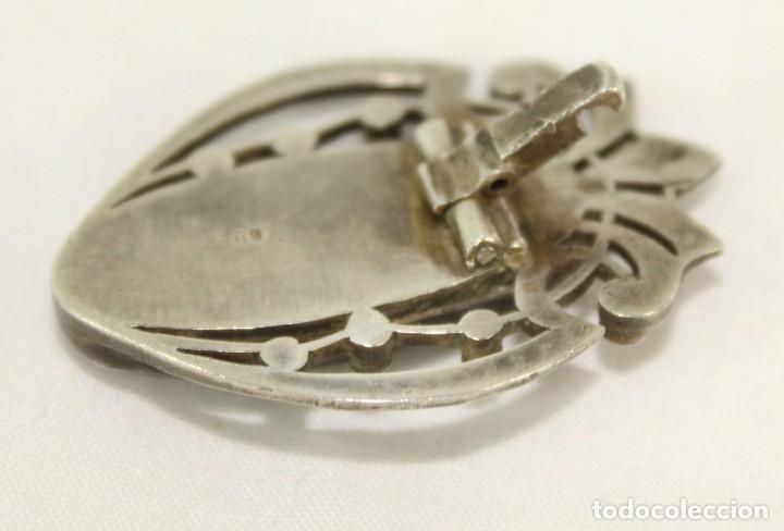 Joyeria: Broche de solapa fines s XIX en plata y marcasitas. Azabache - Foto 3 - 139049466