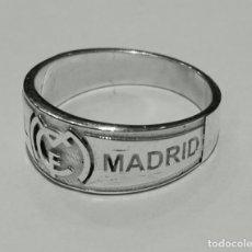 Joyeria: ANILLO REAL MADRID EN PLATA DE LEY MACIZO ADAPTABLE A CUALQUIER MEDIDA. Lote 139205994