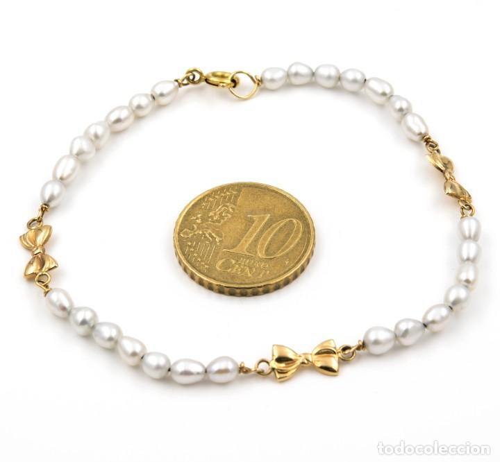 Joyeria: Pulsera Oro y Perlas Cultivadas con Lazos - Foto 6 - 139443850