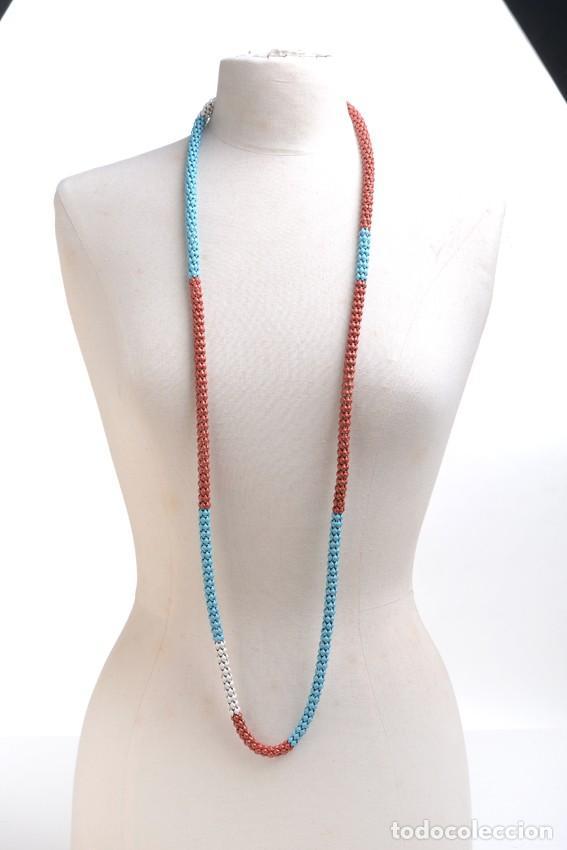 Joyeria: Collar vintage, collar largo, collar hippie, collar bohemio,collar cadena colores,accesorios hippies - Foto 3 - 139553278