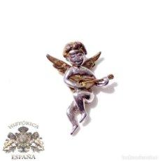 Joalheria: PRECIOSO COLGANTE DE ANGELITO EN PLATA Y PLATA DORADA. Lote 139725790