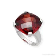 Jewelry - ANILLO CUARZO ROJO Y PLATA DE LEY 925 MILÉSIMAS - 139966866