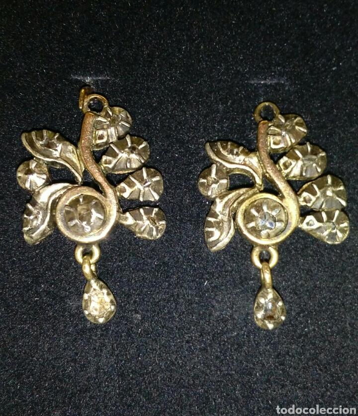 acc98745b624 Pendientes antiguos oro laminado y plata