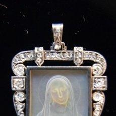 Joyeria - LIQUIDACIÓN, Antiguo colgante Art Decó, Platino, Nácar y 1,08ct Diamantes, Circa 1936 - 140374850