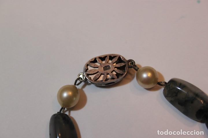 Joyeria: Collar largo de perlas y piedras naturales - Foto 4 - 140574178