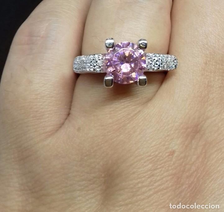 Joyeria: Anillo con Topacio rosa en Plata de Ley - Foto 3 - 140730202