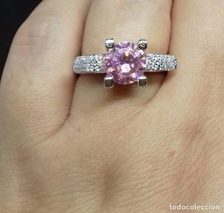 Joyeria: Anillo con Topacio rosa en Plata de Ley - Foto 5 - 140730202