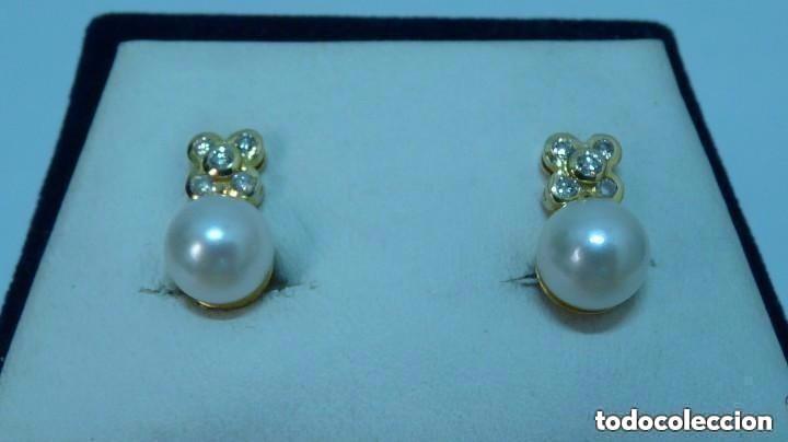 376558b75d4d pendientes de brillantes con perlas cultivadas - Comprar Pendientes ...