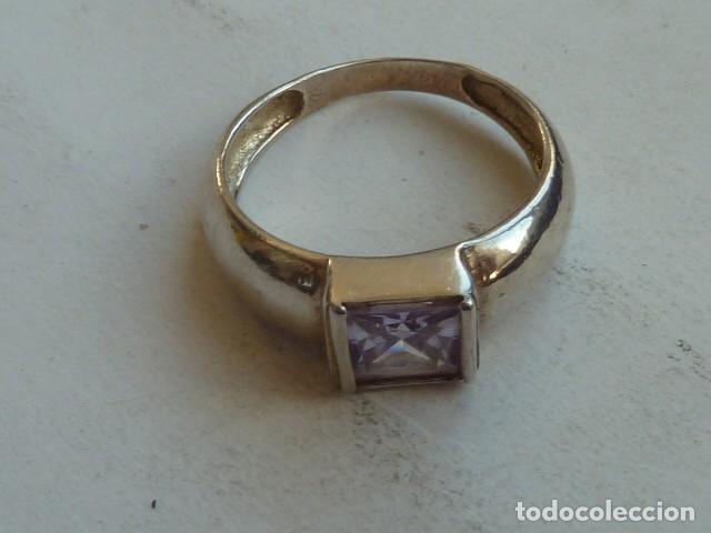 Joyeria: ANILLO VINTAGE de PLATA DE 925 MM con circonita lila - Foto 3 - 140893170