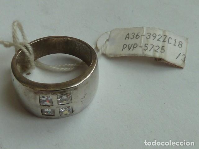 Joyeria: ANILLO VINTAGE de PLATA DE 925 mm con 4 circonitas blancas, costaba 34,41 euros - Foto 2 - 140897954
