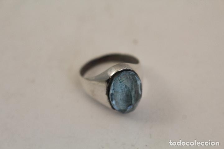 Joyeria: anillo en plata de ley con aguamarina - Foto 2 - 140959094
