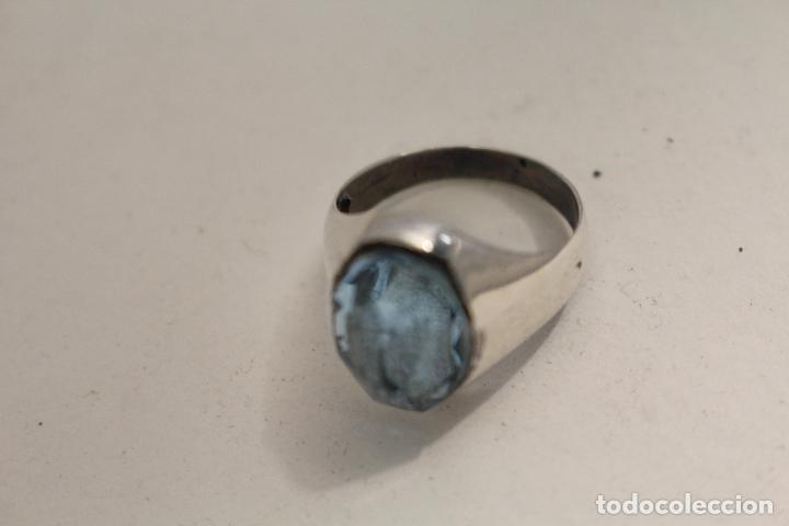 Joyeria: anillo en plata de ley con aguamarina - Foto 3 - 140959094