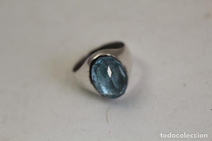 Joyeria: anillo en plata de ley con aguamarina - Foto 6 - 140959094