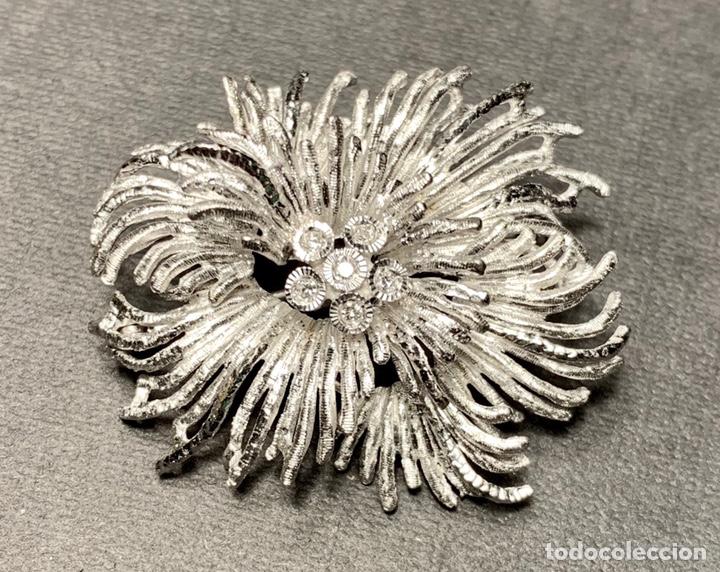 Joyeria: Espectacular broche en oro blanco de ley 18 qt 750 y 6 diamantes brillantes (con contrastes) - Foto 2 - 140966160