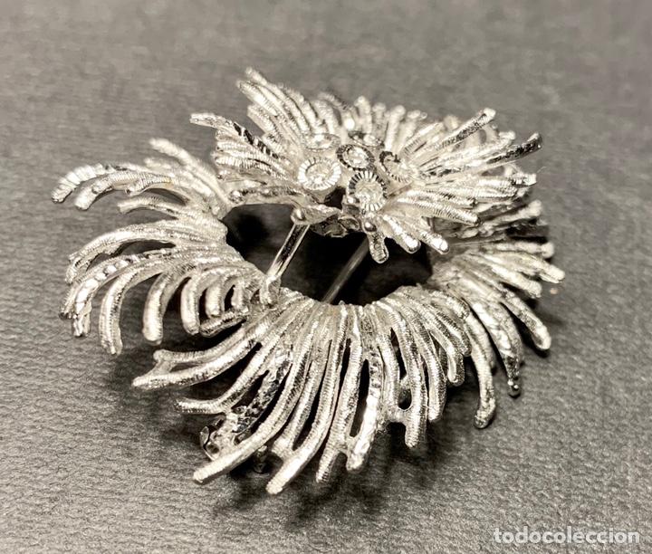 Joyeria: Espectacular broche en oro blanco de ley 18 qt 750 y 6 diamantes brillantes (con contrastes) - Foto 3 - 140966160