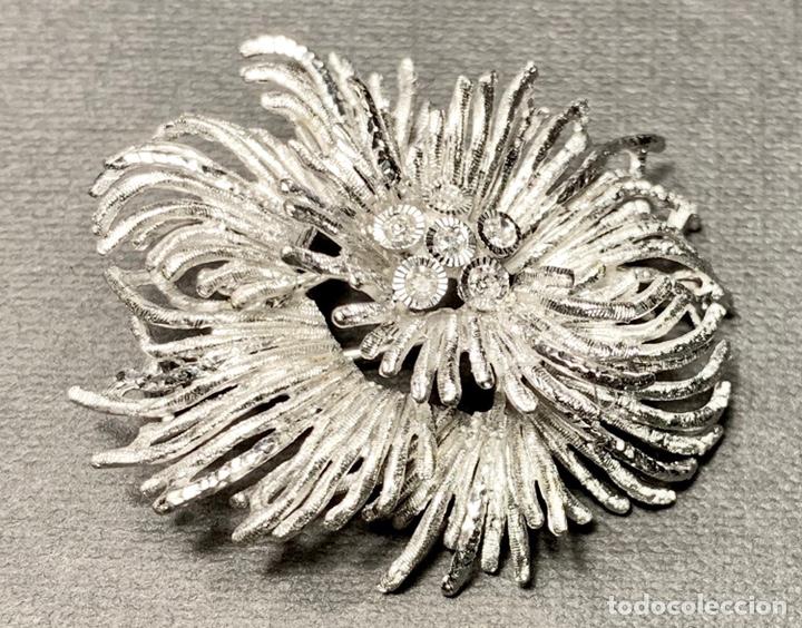 Joyeria: Espectacular broche en oro blanco de ley 18 qt 750 y 6 diamantes brillantes (con contrastes) - Foto 4 - 140966160