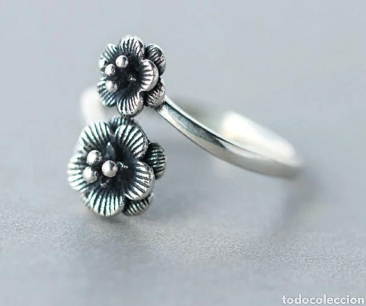 cd951332cf5a anillo flor plata - Comprar Anillos Antiguos en todocoleccion ...