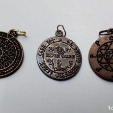Joaillerie: 3 TALISMANES DE SALOMON, ÉXITO, SABIDURÍA Y HEXAGRAMA DE SALOMON. Lote 141192750