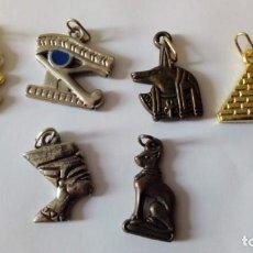 Joyeria: 6 AMULETOS EGIPCIOS. Lote 143701777