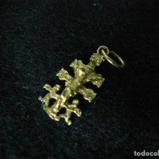 Joyeria: COLGANTE CRUZ DE CARABACA DE ORO DE 18 KILATES GARANTIZADO PESO 0,76 G. Lote 141208366