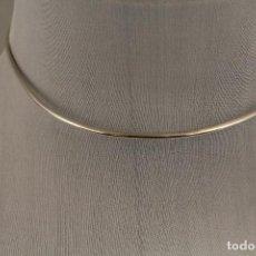 Joyeria: COLLAR ARO RIGIDO EN PLATA DE LEY. Lote 141268178