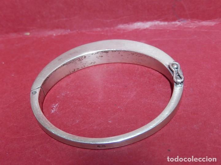 Joyeria: Brazalete / pulsera. Oro, plata y hueso. - Foto 6 - 141348758