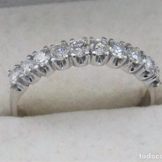 Joyeria: MAGNIFICA MEDIA ALIANZA CON 10 DIAMANTES TALLA BRILLANTE 0,70CT - VS/H - ORO BLANCO 18K. Lote 141512954