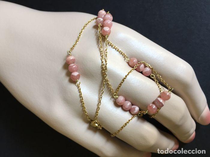 Joyeria: collar de oro de 18Kt y Rodocrositas. - Foto 4 - 100423535