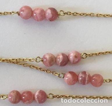 Joyeria: collar de oro de 18Kt y Rodocrositas. - Foto 10 - 100423535