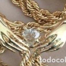 Joyeria - Gargantilla de oro 18 Kt y precioso brillante talla corazón - 104988063
