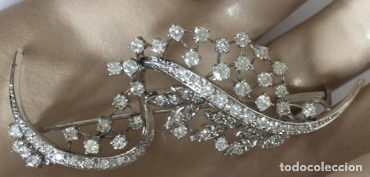 Joyeria: Broche de oro blanco de 18 Kt con Diamantes talla brillantes 2,53 ct - Foto 8 - 107656915