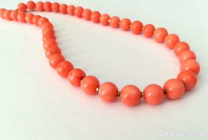 Joyeria: 19,2 Kilates - Collar de Coral rosa con cierre de oro argolla - - Foto 3 - 142608917