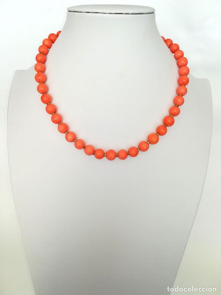 Joyeria: 19,2 Kilates - Collar de Coral rosa con cierre de oro argolla - - Foto 4 - 142608917