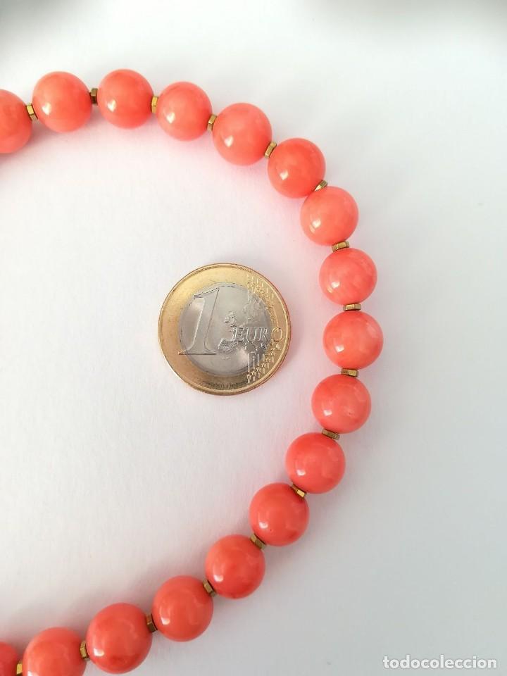 Joyeria: 19,2 Kilates - Collar de Coral rosa con cierre de oro argolla - - Foto 6 - 142608917
