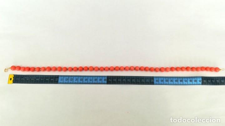 Joyeria: 19,2 Kilates - Collar de Coral rosa con cierre de oro argolla - - Foto 7 - 142608917
