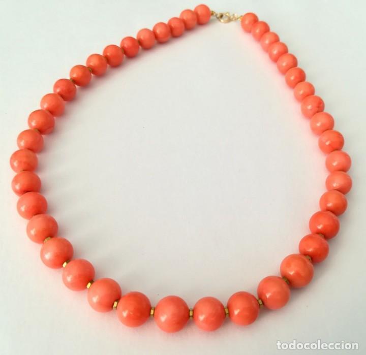 Joyeria: 19,2 Kilates - Collar de Coral rosa con cierre de oro argolla - - Foto 9 - 142608917