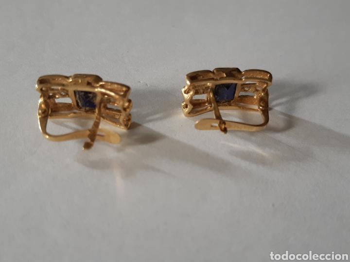 Joyeria: Pendientes oro 18K con zafiros - Foto 3 - 142235838