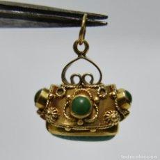 Jewelry - COLGANTE EN ORO 18K MARCADO CON CONTRASTE PIEDRA TURQUESA - 142237814