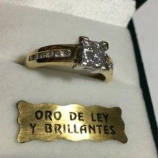 Jewelry: SORTIJA DE ORO Y BRILLANTES DE 18KL Y 0,50 KL DE BRILLANTES NUEVA CONTRASTADA. Lote 142406760