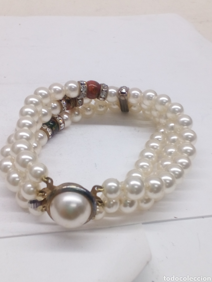 Joyeria: Pulsera de perlas bisutería - Foto 2 - 142411580