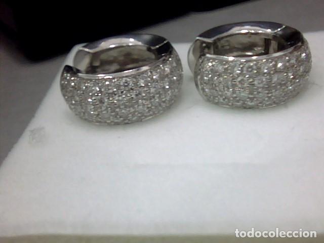 Joyeria: pendientes oro 18 kl y diamantes - Foto 2 - 142505382