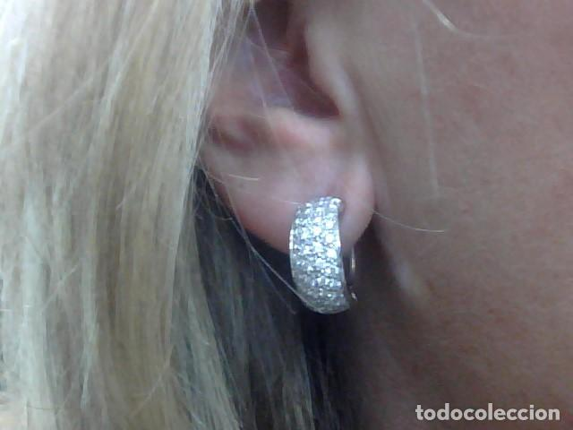 Joyeria: pendientes oro 18 kl y diamantes - Foto 3 - 142505382