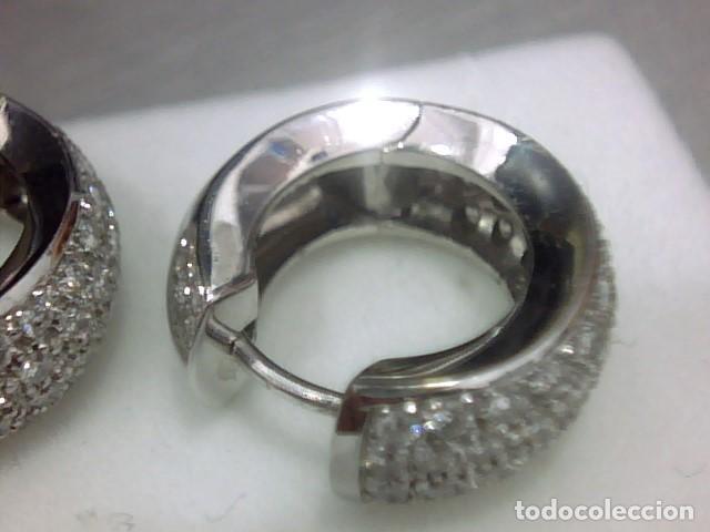 Joyeria: pendientes oro 18 kl y diamantes - Foto 7 - 142505382