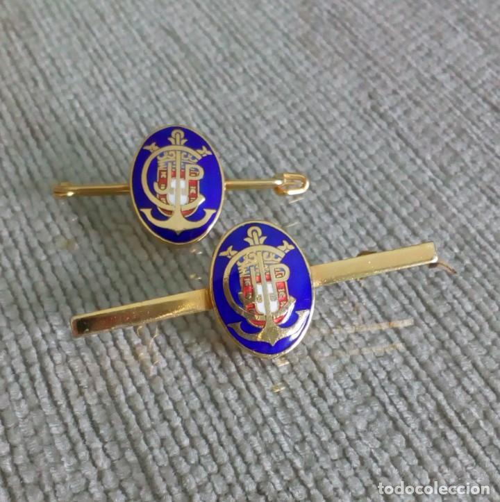 Joyeria: Dos broches compañeros con escudo e iniciales - Foto 2 - 142831418