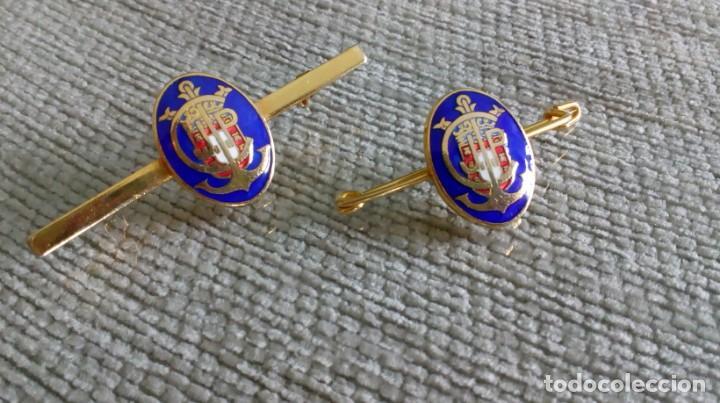 Joyeria: Dos broches compañeros con escudo e iniciales - Foto 3 - 142831418