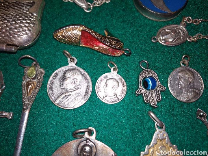 Joyeria: Expectacular lote antiguos colgantes la mayoria de plata - Foto 6 - 142832306